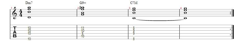 II-V-I guitar comping # 1
