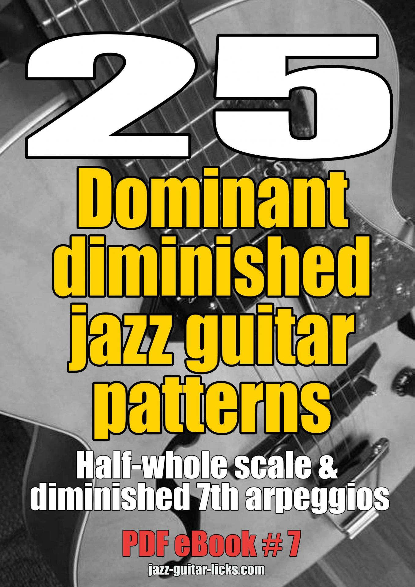25 dominant diminished jazz guitar patterns ebook pdf