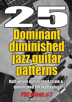 25 dominant diminished patterns jazz guitar ebooks