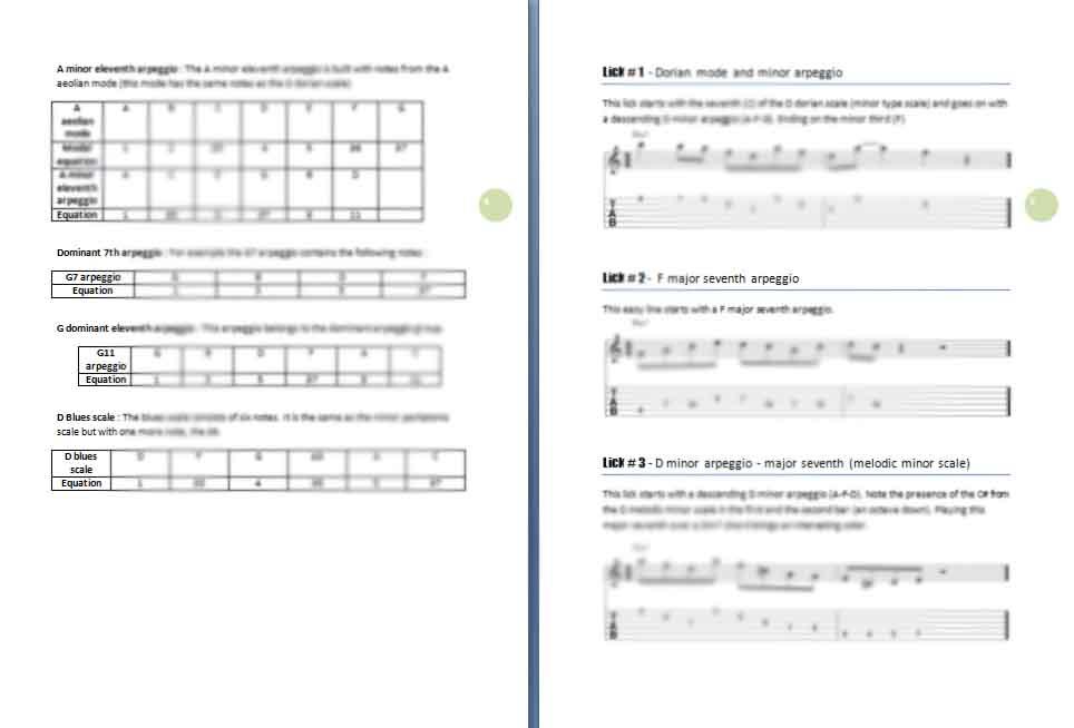 25 minor jazz guitar licks ebook preview