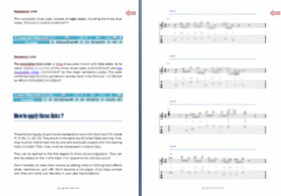 40 blues jazz licks PDF ebook preview