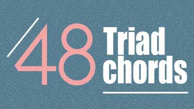 48 triad guitar chords