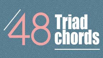 48 triad guitar chords