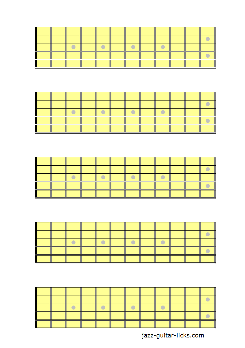 5 guitar neck diagrams