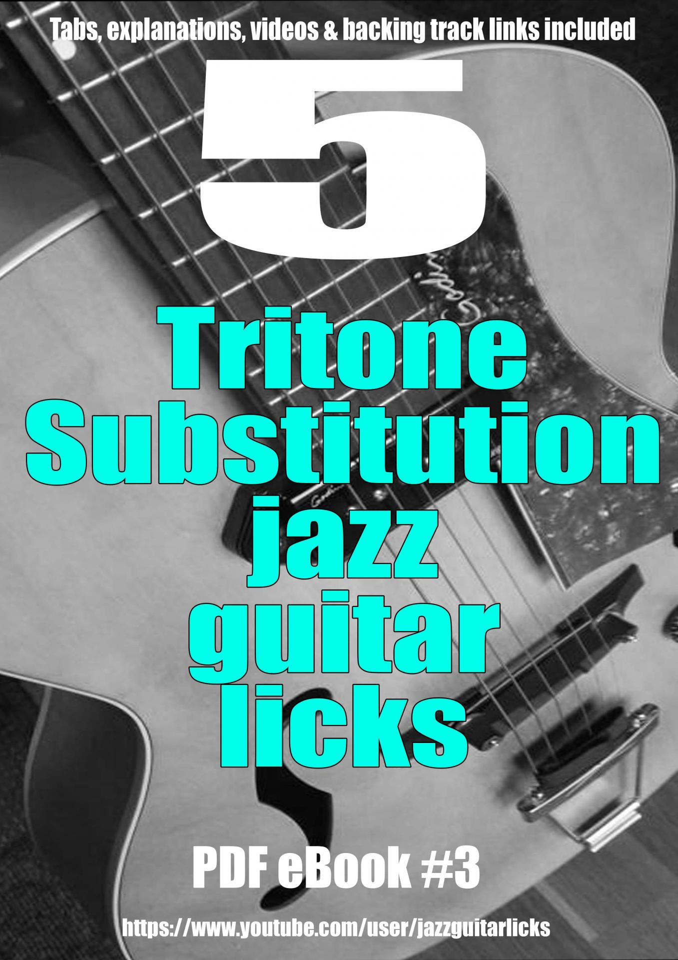 5 tritone substitution jazz guitar licks ebook light