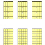 6 blank guitar chord diagrams