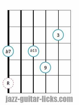 9b13 guitar chord 12