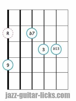 9b13 guitar chord 13