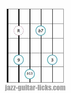 9b13 guitar chord 2