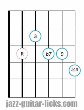 9b13 guitar chord 3