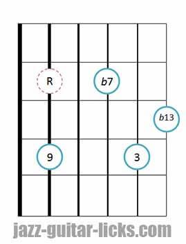9b13 guitar chord 8