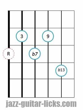 9b13 guitar chord 9