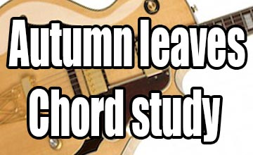 Autumn leaves chord arrangement