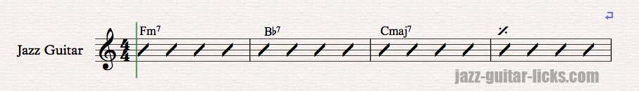 Backdoor progression chords