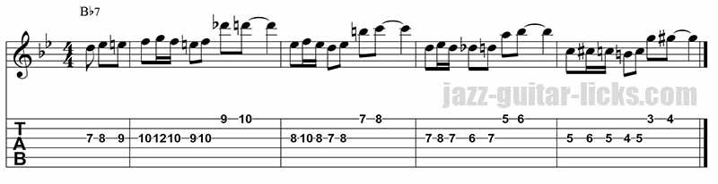 Barney kessel - Jazz guitar lick 3