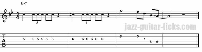 Barney kessel - Jazz guitar lick 4
