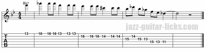 Barney kessel - Jazz guitar lick 5