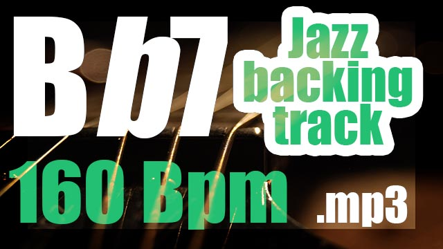 Bb7 jazz backing track 160 BPM