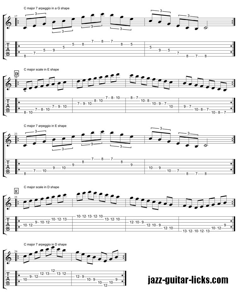 CAGED guitar arpeggios 2