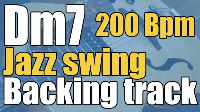 Dm7 jazz swing backing track 200 Bpm
