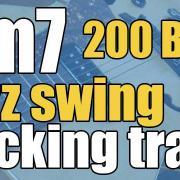 Dm7 jazz swing backing track 200 Bpm