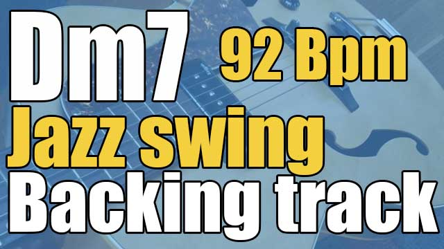 Dm7 jazz swing backing track 92 BPM