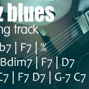F7 jazz blues backing track