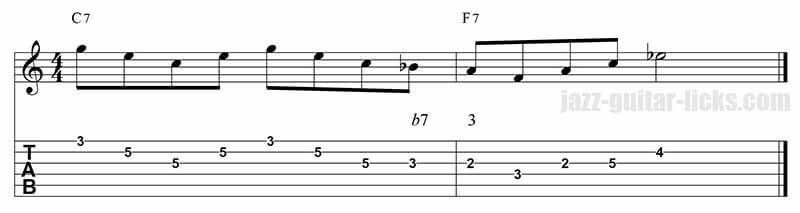 Guide tones lick 5 I-IV sequence