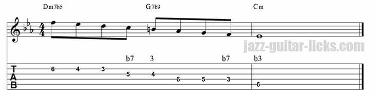 Guide tones lick 6 minor ii v i 4