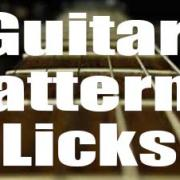 Guitar patterns and licks