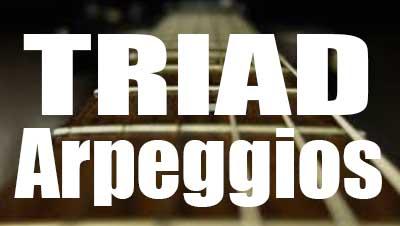 Triad arpeggios - Guitar lesson