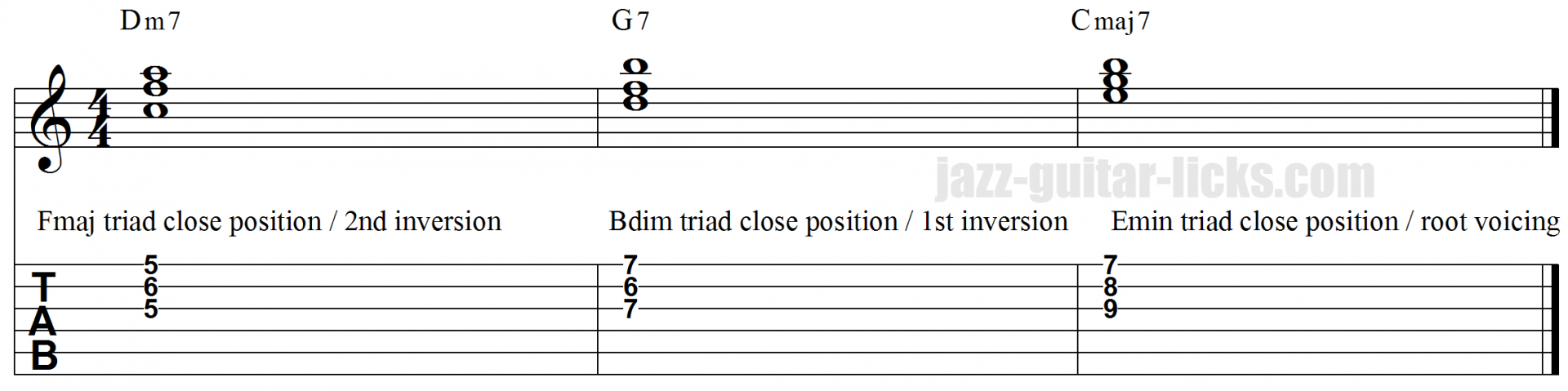Using Triads For Comping Close And Open Voicings