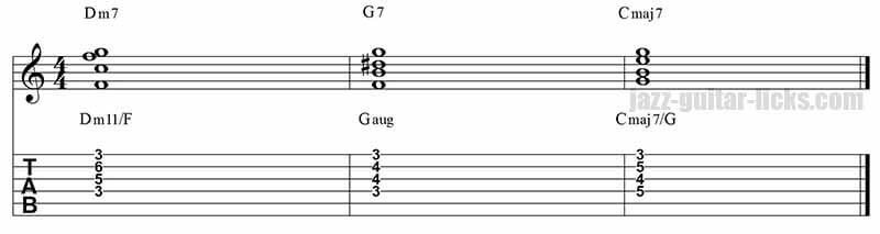 II-V-I jazz guitar voicings