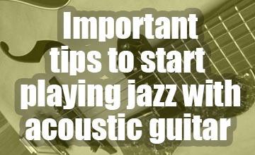 Important tips jazz guitar