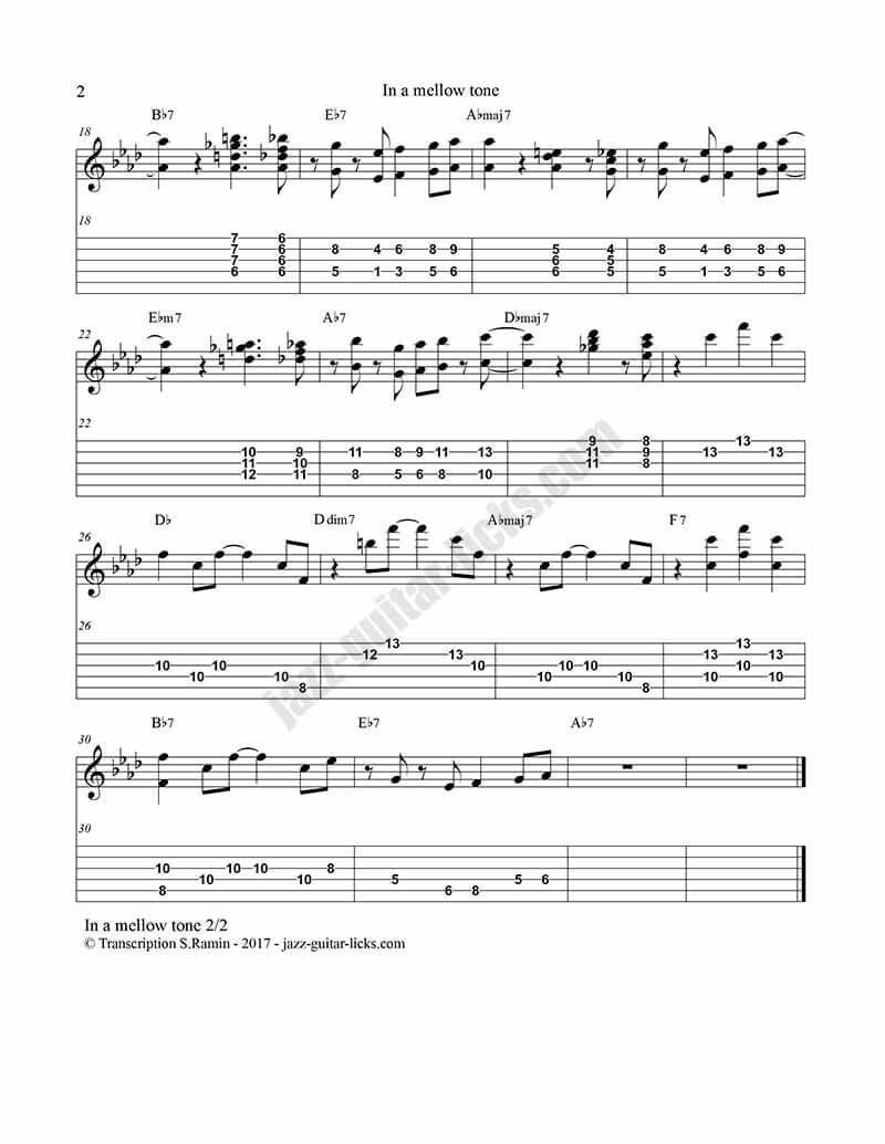 In a mellow tone kenny burrell guitar tabs 2