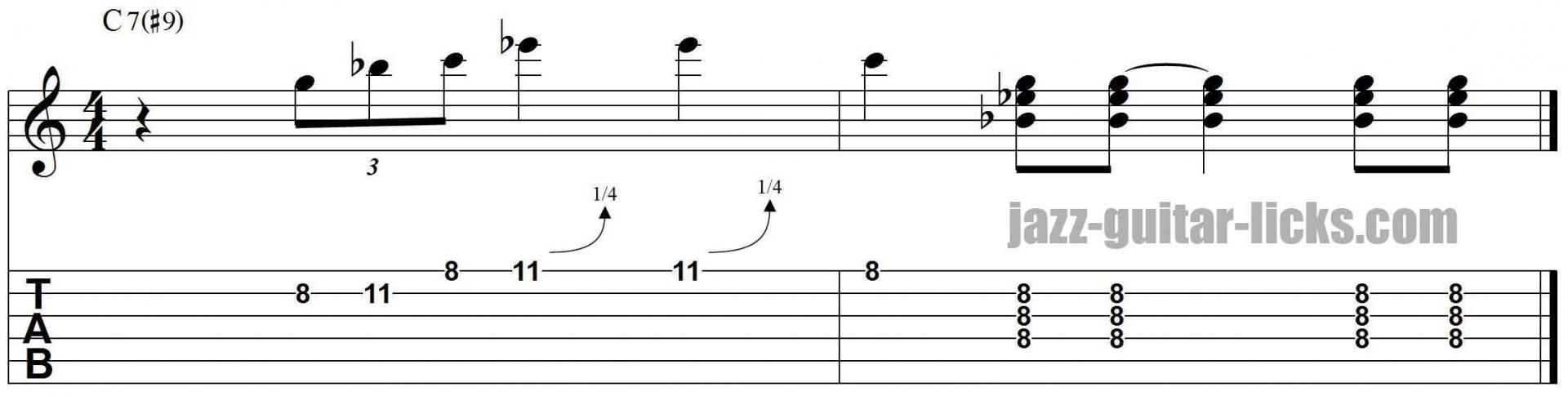 Kenny burrell jazz guitar lick