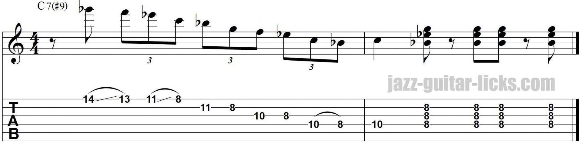 Kenny burrell jazz guitar lick