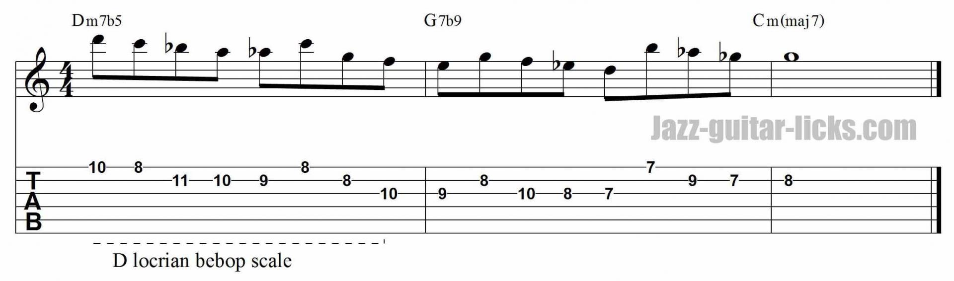 Playback guitar lick