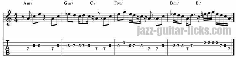 Pat martino jazz guitar lick on sunny
