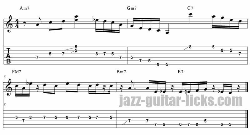 Pat martino jazz guitar lick tabs