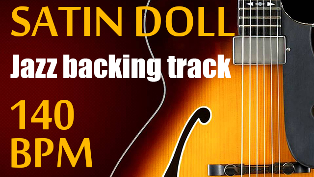 Satin doll backing track with chord chart