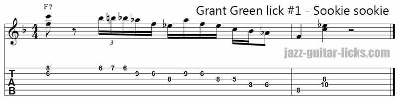 Sookie sookie grant green guitar lick 1