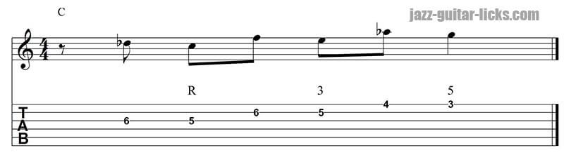 Targeting note from above guitar lesson