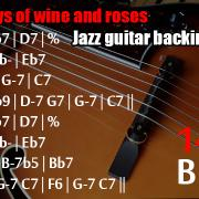 The days of wine and rosesjazz backing track