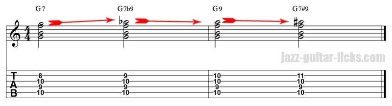 Voice leading guitar lesson