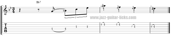 Wes montgomery dominant licks 4 page 1 bis