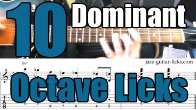 10 dominant octave licks