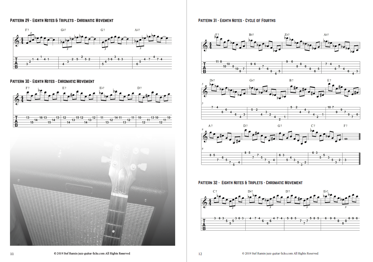 image relating to Printable Guitar Tab known as 101 Dominant Arpeggio Designs For Guitar - PDF guide