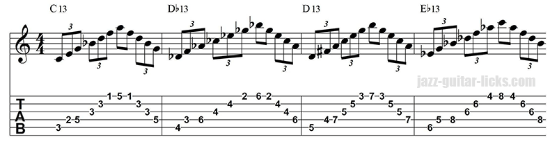 13 arpeggio warm up exercise