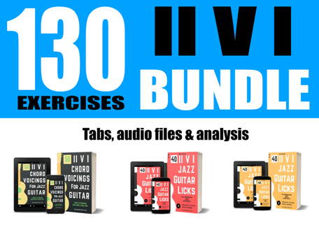 2 5 1 jazz guitar exercises bundle